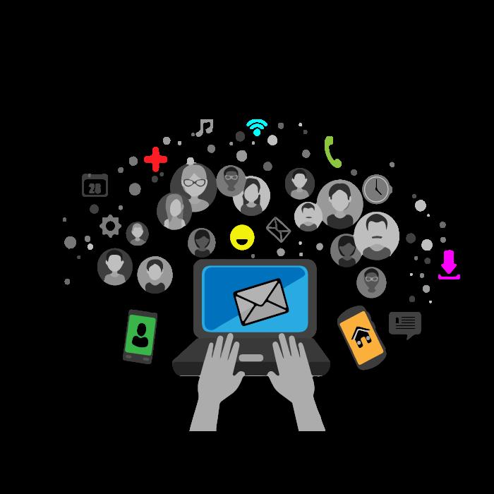 Social media profile graphics design